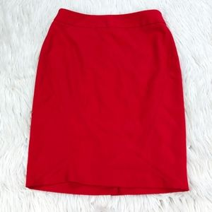The Limited Texture Red Pencil Skirt